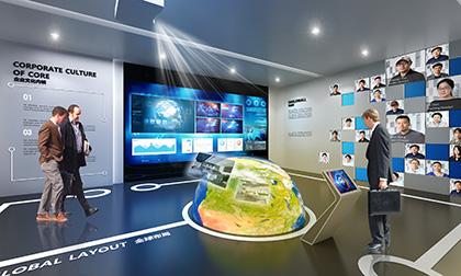 电子企业展厅